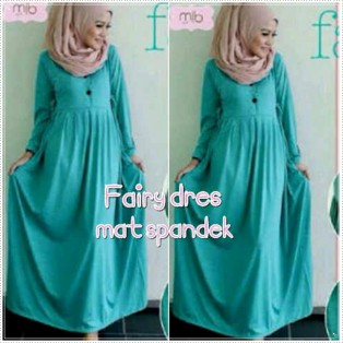 Dress & Bergo Baju Muslim Fairy Fairy