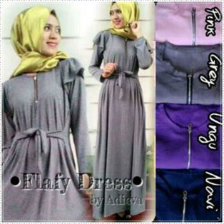Dress & Bergo Baju Muslim Flafy Flafy