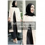 Baju Hijab Murah Button Long Cardi