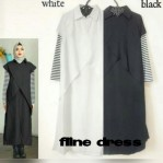 Grosir Baju Muslim Fline Dress Stripo