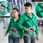 Busana Muslim Terbaru Puma Green Couple