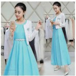 Baju Muslim Modern Jane Dress Biru