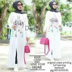 Grosir Baju Muslim Keep Calm & Love Your Hijab Tunik