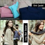 Baju Rajut Murah 	Long Neck Sweater