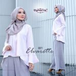 Baju Muslim Modis Selena Set Kulot Arabic Grey
