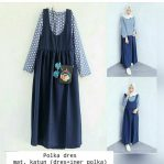Baju Hijab Murah Polka Dress