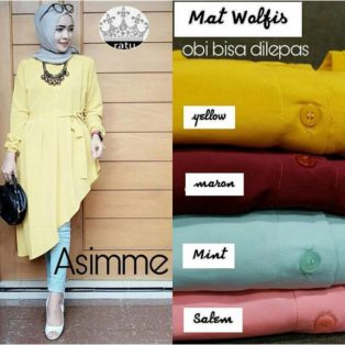 Baju Muslim Modern Assime Top