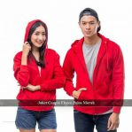 Grosir Baju Muslim Murah Couple Jacket Polis Red