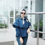 Pakaian Hijab Murah Prilly Top Navy