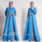 Busana Hijab Murah Lucia Dress Blue