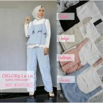 Grosir Baju Hijab Chloe Plain Set 3in1