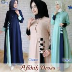 Grosir Busana Muslim New Afidah Dress