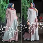 Busana Muslim Murah Syesha Dress Dusty Grey