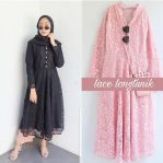 Busana Muslim Murah Lace Long Tunik
