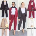 Grosir Baju Muslim Remava Set 3 in 1