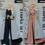 Busana Muslim Modis Stripes Set