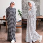 Jual Baju Hijab Stripe Long Dress