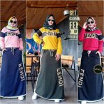 Baju Hijab Modis Fendy Set