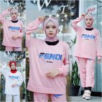 Busana Hijab Murah Fendi Sporty Set
