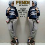Jual Baju Muslim Fendi Eye Monster