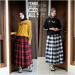 Baju Hijab Modis Fendi Two Rok