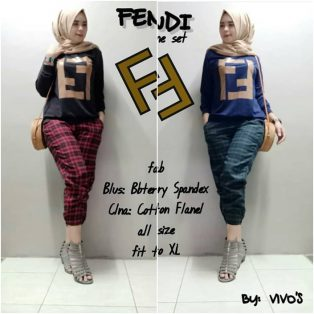 Baju Muslim Modern Fendi Set One RF