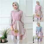 Baju Hijab Modern Inaka Long Top Mc