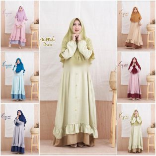 Baju Hijab Modern Kagumi Dress Set