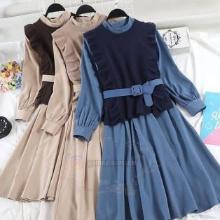 Baju Hijab Murah Jenisa set 2in1