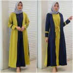 Pakaian Hijab Murah Combine Dress