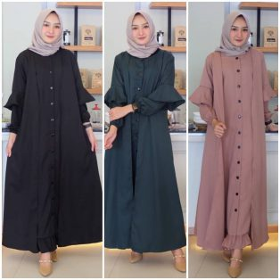 Jual Baju Muslim Ryza Button Dress