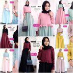 Baju Hijab Modern Blubel Dress
