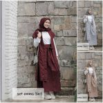 Busana Muslim Modis Set Emma 3in1