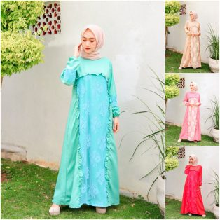 Baju Hijab Terbaru Nara Lace Dress