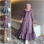 Baju Hijab Modern Peoni Dress