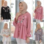 Baju Hijab Modern Sea Bordir Blouse