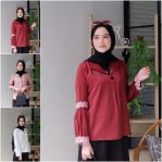 Baju Muslim Modis Pleats Blouse