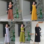 Pakaian Hijab Murah Nindy Dress Brm