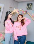 Baju Muslim Terbaru Strawberry Pink Crope Sweater