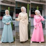 Jual Baju Muslim Beige Basic Dress