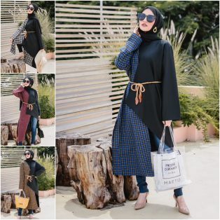 Busana Muslim Modern Two Tone Long Outer