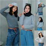 Baju Hijab Modis Lava Small Stripe