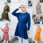 Baju Hijab Modis Lavie Tunik Plisket