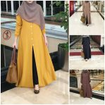 Jual Baju Hijab Adinda Dress Brm