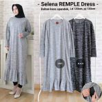 Baju Hijab Modis Selena Dress