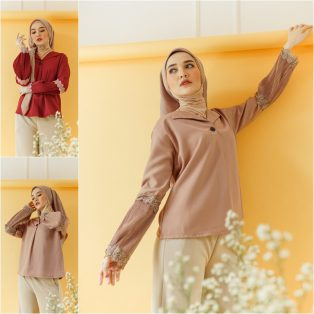 Baju Muslim Modern Ruma Pleats Top
