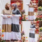 Busana Muslim Modern Yodia Two Tone Dress