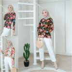 Baju Hijab Modis Tropical Blossom