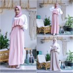 Baju Muslim Terbaru Dilisha Two Tone Dress
