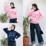 Baju Hijab Modern Doble Sweater